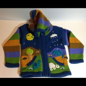 Awesome colorful sweater size 2 to 3 t